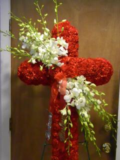 Red Carnation Cross