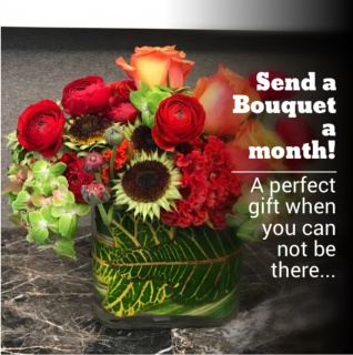 Monthly Flowers Gift Subscription