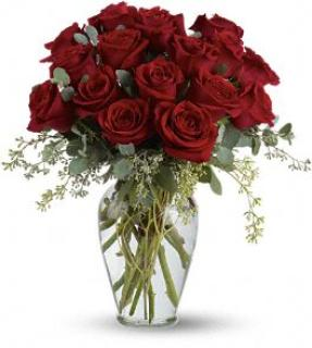 With a Full Heart - 18 Premium Red Roses
