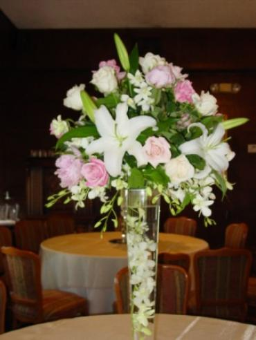 Elegant Lillies and Roses