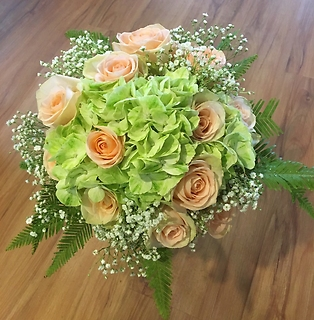 Romantic Hand Tied Bouquet..Tiffany and Mohito