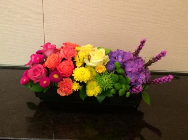 Rainbow Ombr Inspired Centerpiece
