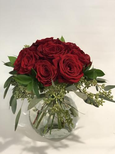 One Dozen Red Roses- Hand Tie Design