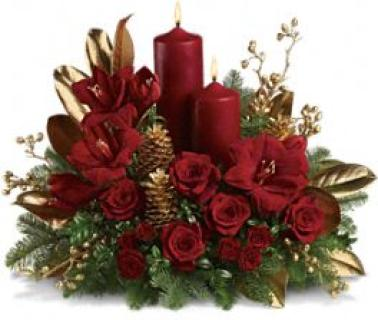 Christmas Pillar Centerpiece