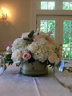 Romantic Blush Wedding- Low Centerpiece